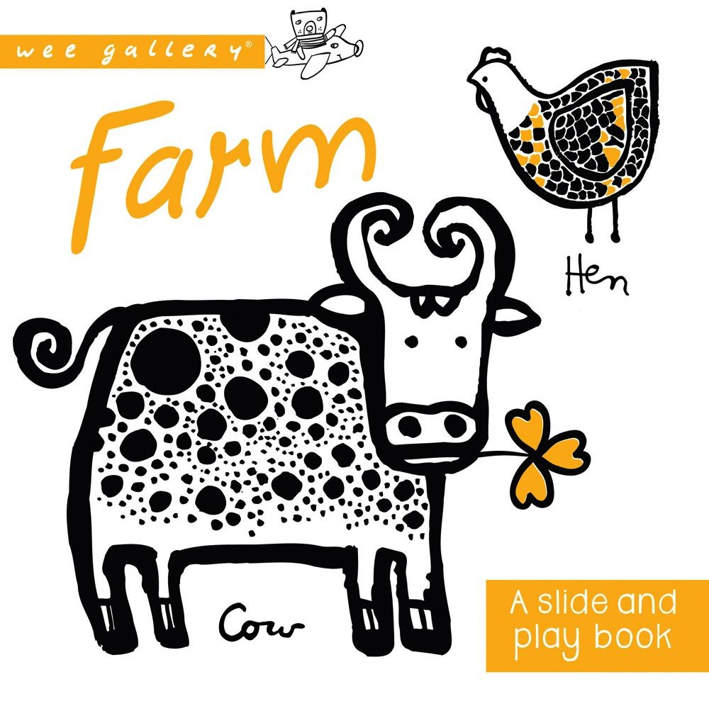 book wee gallery: farm, a slide and play book