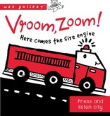 book wee gallery: vroom, zoom! here comes the fire engine! press and listen city