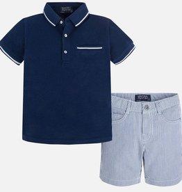 boy 2 piece polo/shorts set