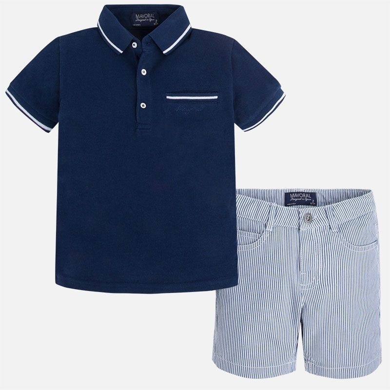 boy 2 piece polo/shorts set