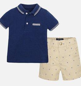 little boy 2 piece polo/shorts set