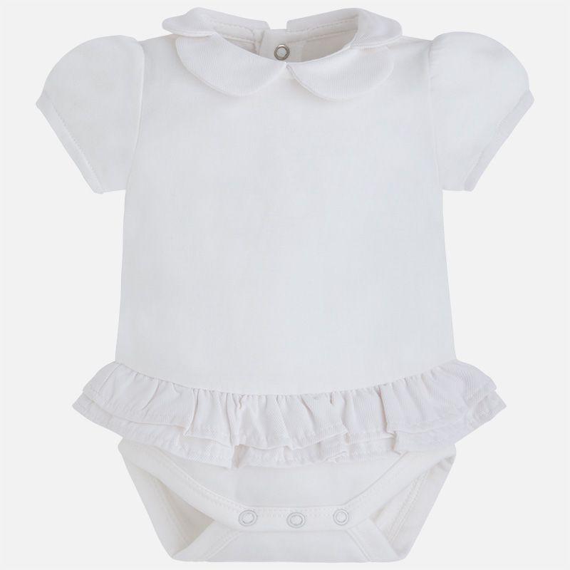 baby girl ruffle romper onesie