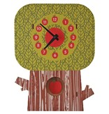 decor modern moose apple tree pendulum clock