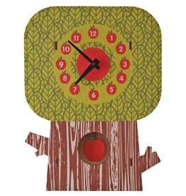 decor modern moose apple tree pendulum clock
