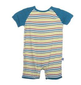 baby boy kickee pants print raglan romper