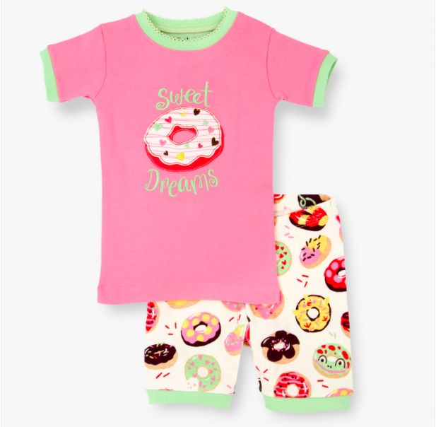 girl short pajama set