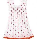 girl flutter sleeve dress