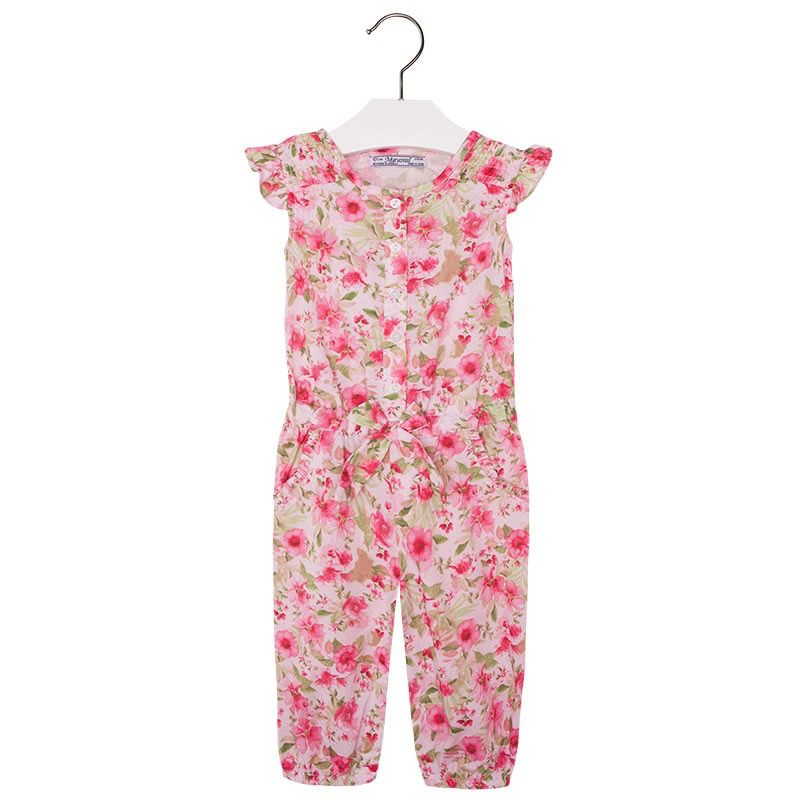 baby girl long floral romper