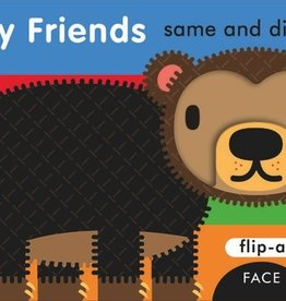 book flip-a-face: furry friends, same and different