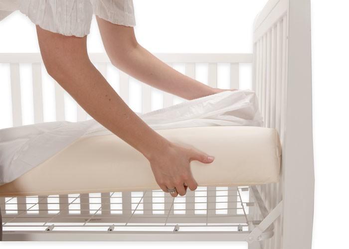 furniture lullaby earth super lightweight crib mattress: 2-stage