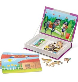 playtime horses and riders magnetic book
