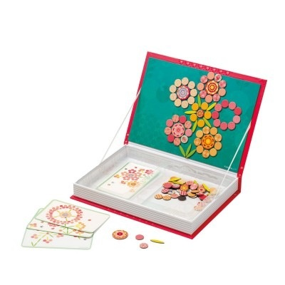 playtime z mosaic flowers large magnetic book