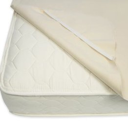 furniture naturepedic organic waterproof twin mattress pad w/ straps