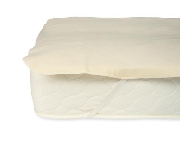 furniture naturepedic organic waterproof twin mattress pad w/ straps