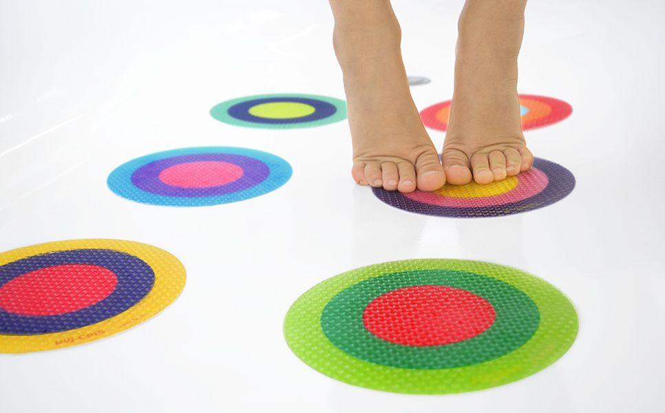 bath puj treads, multi-color rings