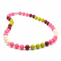 jewelry chewbeads bleecker necklace, punchy pink