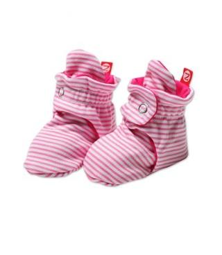 fashion accessory Zutano candy stripe baby booties