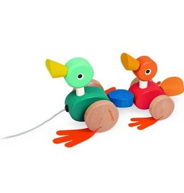 playtime duck family pull along