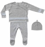 baby boy Angel Dear- take me home set, grey w/ blue