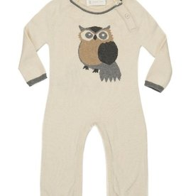 baby lucky jade ivory owl coverall