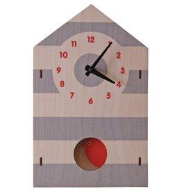 decor z modern moose birdhouse pendulum clock