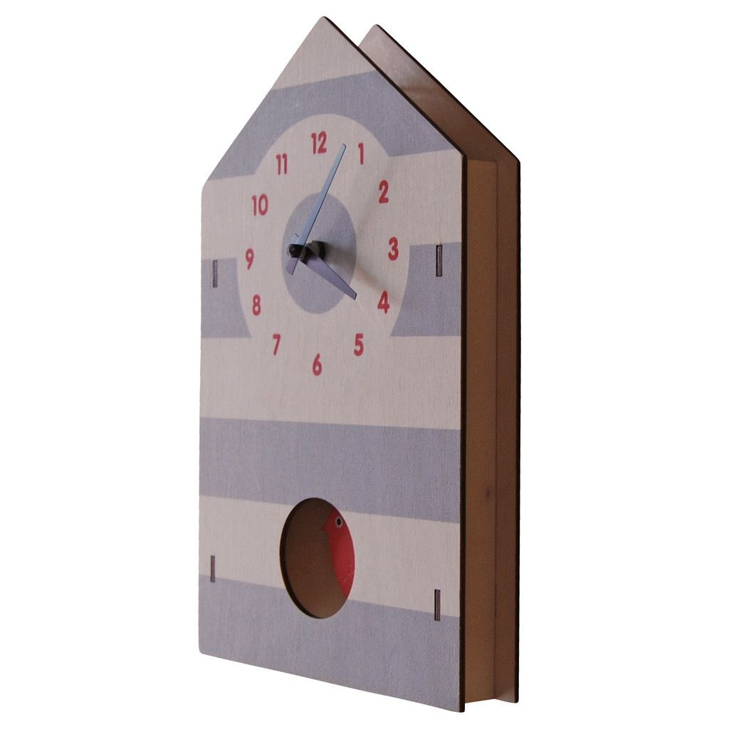 decor z modern moose birdhouse pendulum clock