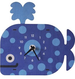 decor modern moose whale clock