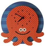 decor modern moose octopus wall clock