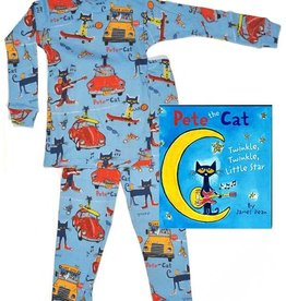 boy pete the cat pajama and book set
