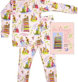 little girl princess and the pea pajama and book set