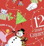 girl 12 days of christmas girl pajama and book set