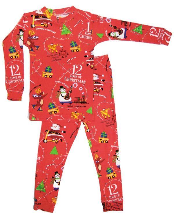 little boy 12 days of christmas boy pajama and book set