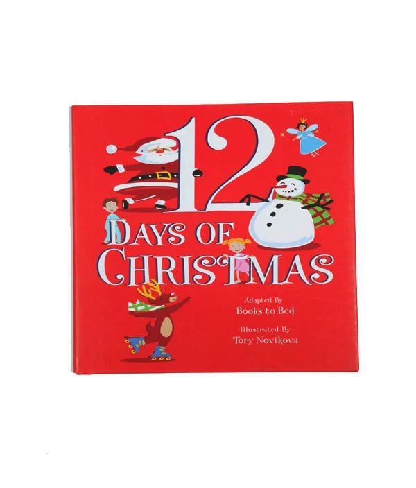 little boy 12 days of christmas boy pajama and book set
