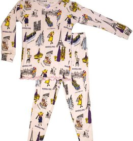 little girl madeline pajama and book set