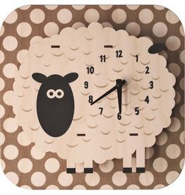 decor modern moose sheep clock