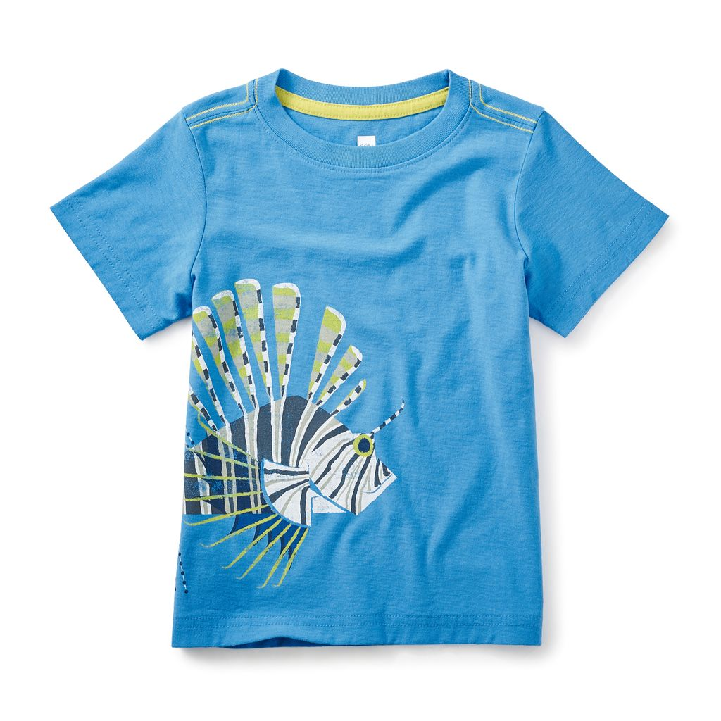 master tea collection lion fish graphic tee