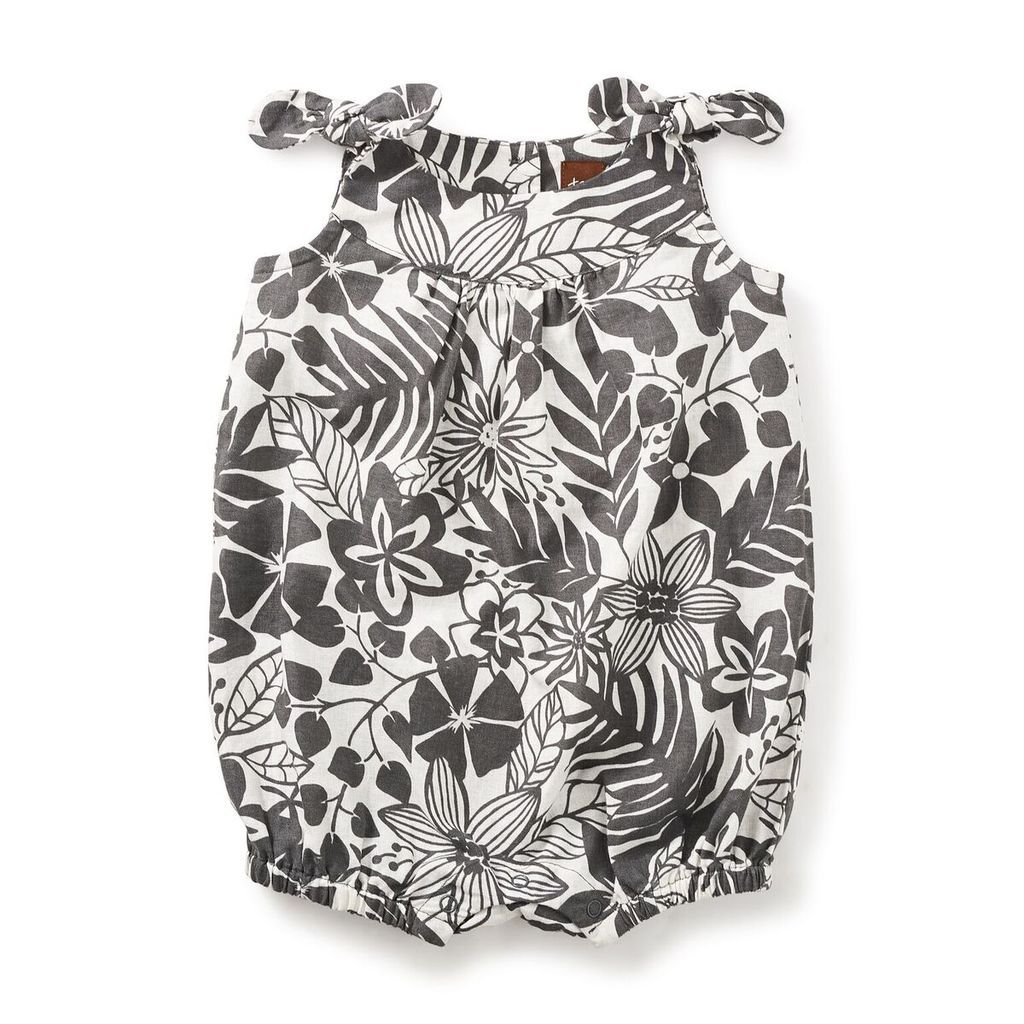 little girl boom gallery shoulder-tie romper