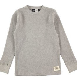boy thermal tee, grey melange, 4