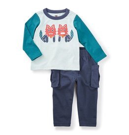 little boy tea collection shisa baby outfit