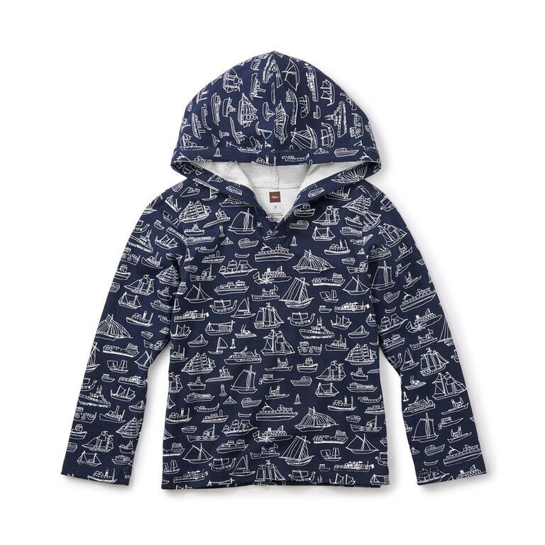boy sail away happy hoodie