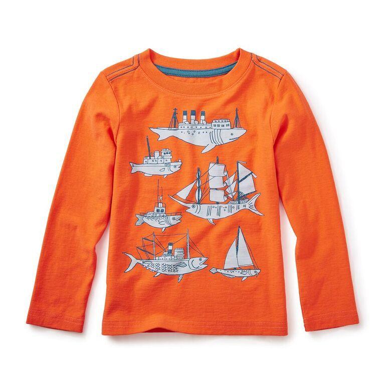 boy fish & ships graphic tee