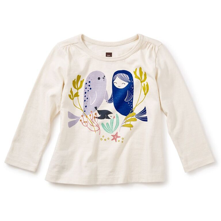 little girl selkie graphic tee
