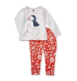 little girl puffin baby outfit