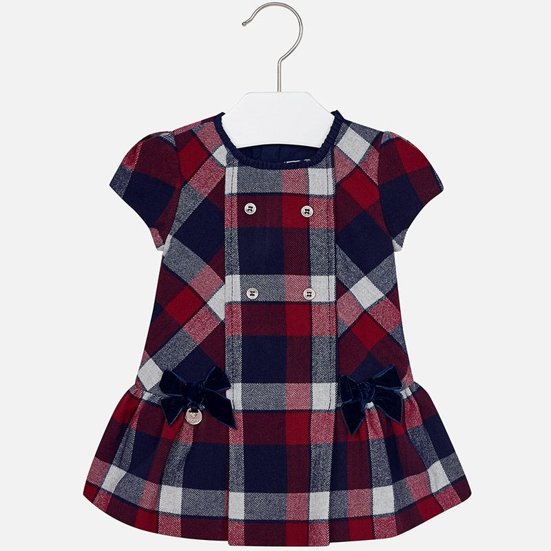 baby girl plaid flannel dress