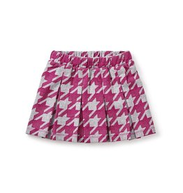 master houndstooth pleated skirt