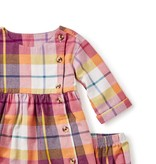 master plaid flannel baby dress