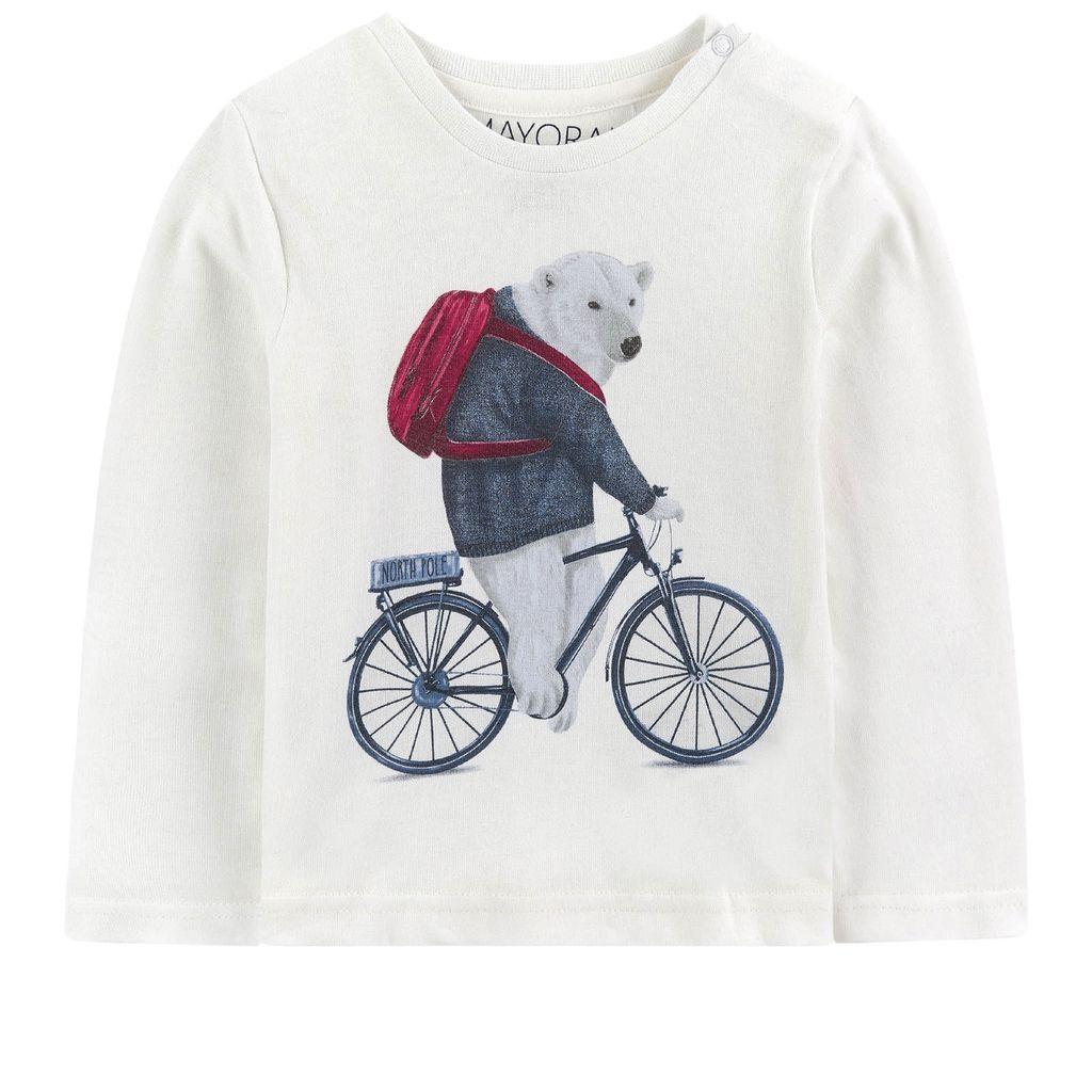 baby boy l/s animal t-shirt