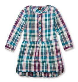 girl applecross flannel shirtdress, size 5