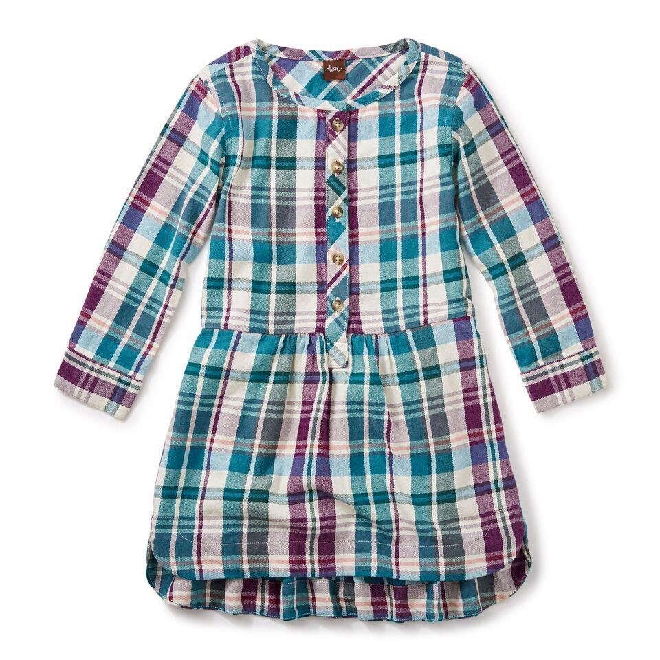girl applecross flannel shirtdress, size 5