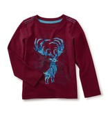 toddler boy antlers graphic tee, size 4